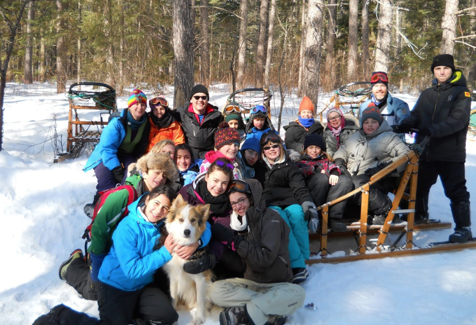 A previous Dog Sledding Expedition as part of the Middle School Outers Club.