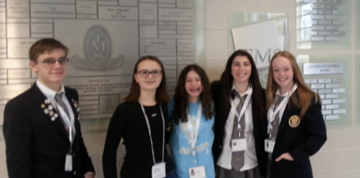 In photo: Michael Sava (9), Linda Shalash (7), Phoebe Rotman (8), Sophie Sheiner (10), Abby Nash (10)