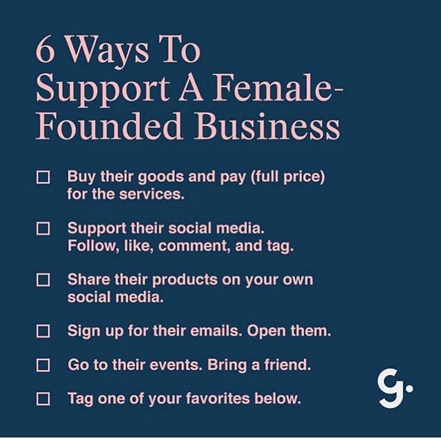 We all can do something. Tag your favorite female owned business.