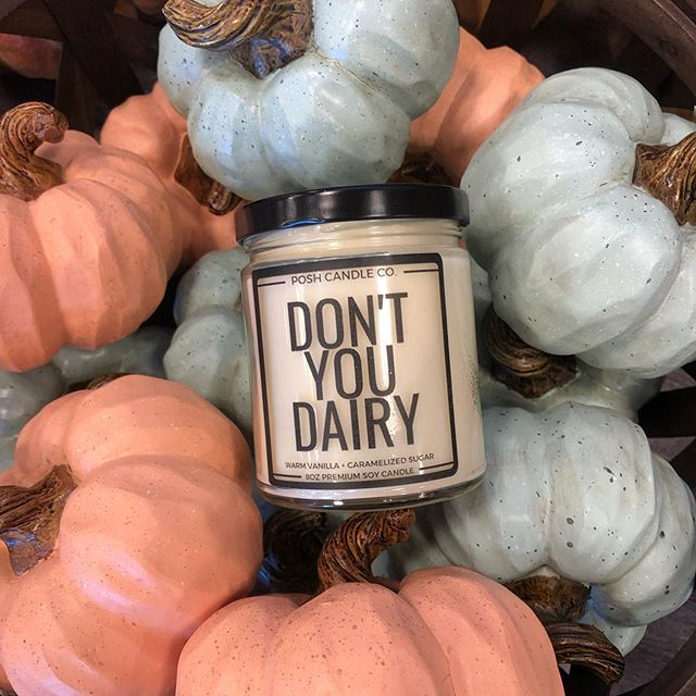 It's burn candles and cuddle season. @poshcandleco made these super cute custom candles for our co founder @dontyoudairy_  these are the perfect branding products. Place your order and make your event lit.
