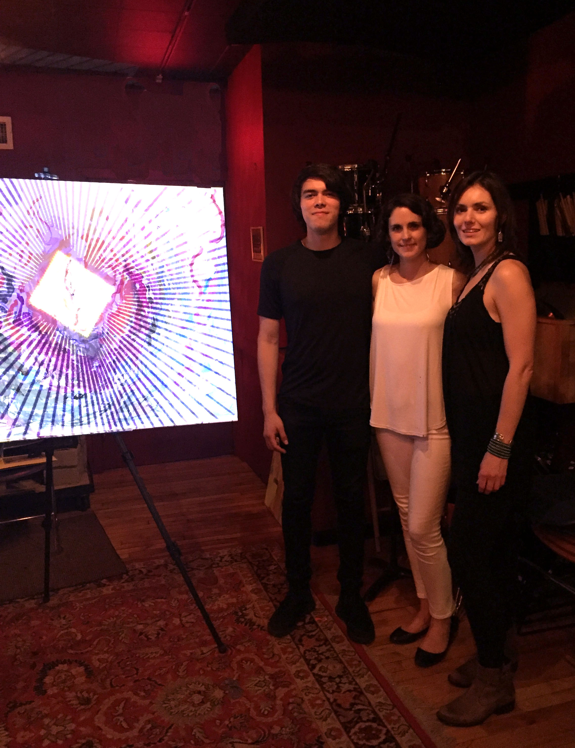 Olga Kisseleva, Alejandro Gonzalez, and Fotini Christophillis, Birth Performance Aug 4, 2017 @ Lilypad, Cambridge.