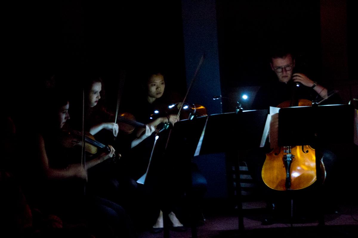Tania Mesa, violin 1 / Louisa Byron, violin 2 / Anna Stromer, viola / Parker Ousley, cello / Pedro Osuna Ardoy, composer and piano