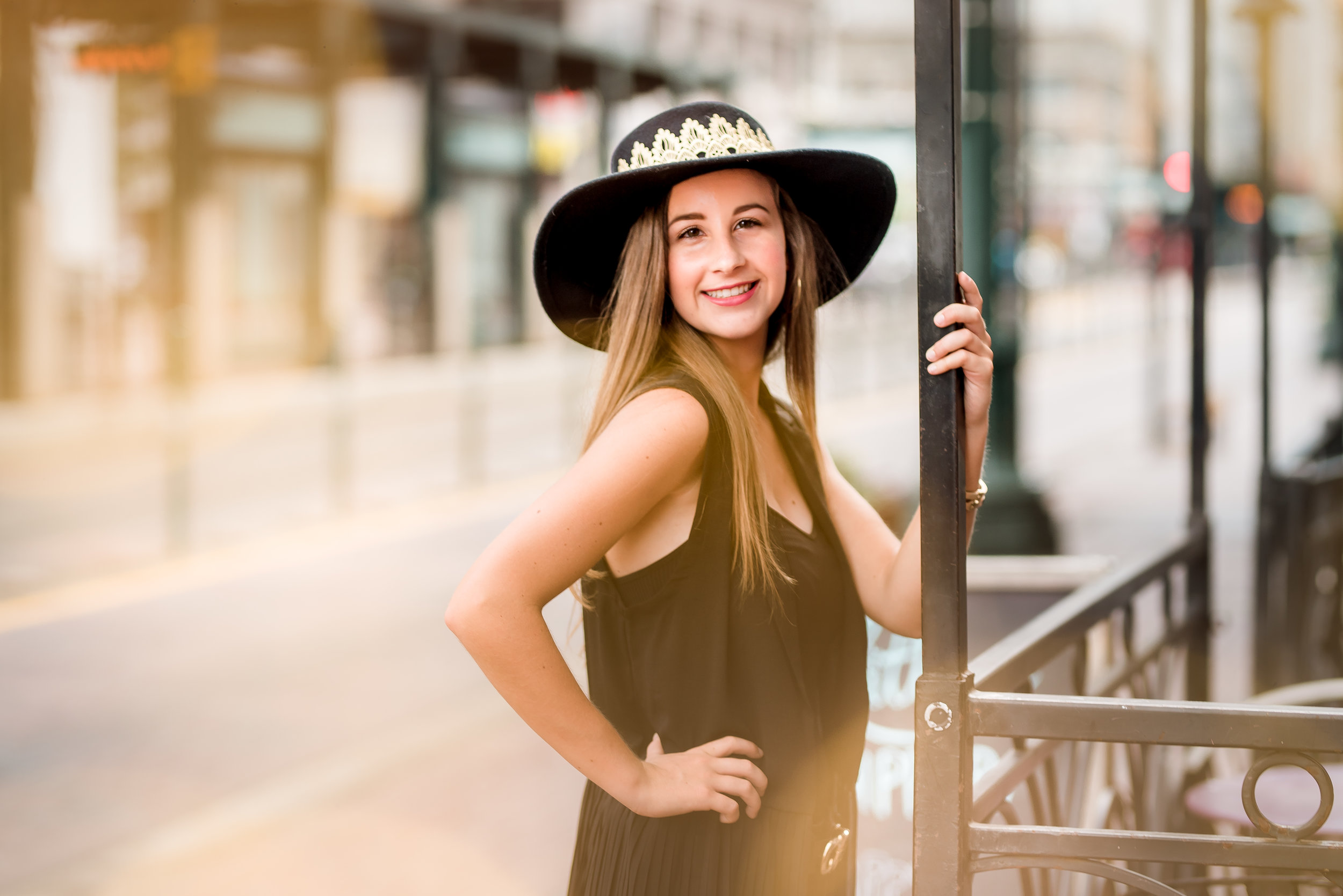 Downtown Houston High School Senior Photo Session