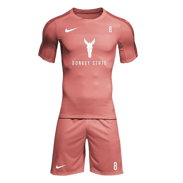 We've teamed up with D.S.F.C to design their Soccer Uniform Kits, using an off-shade of Adobe's Pantone Color of the Year - Living Coral.
