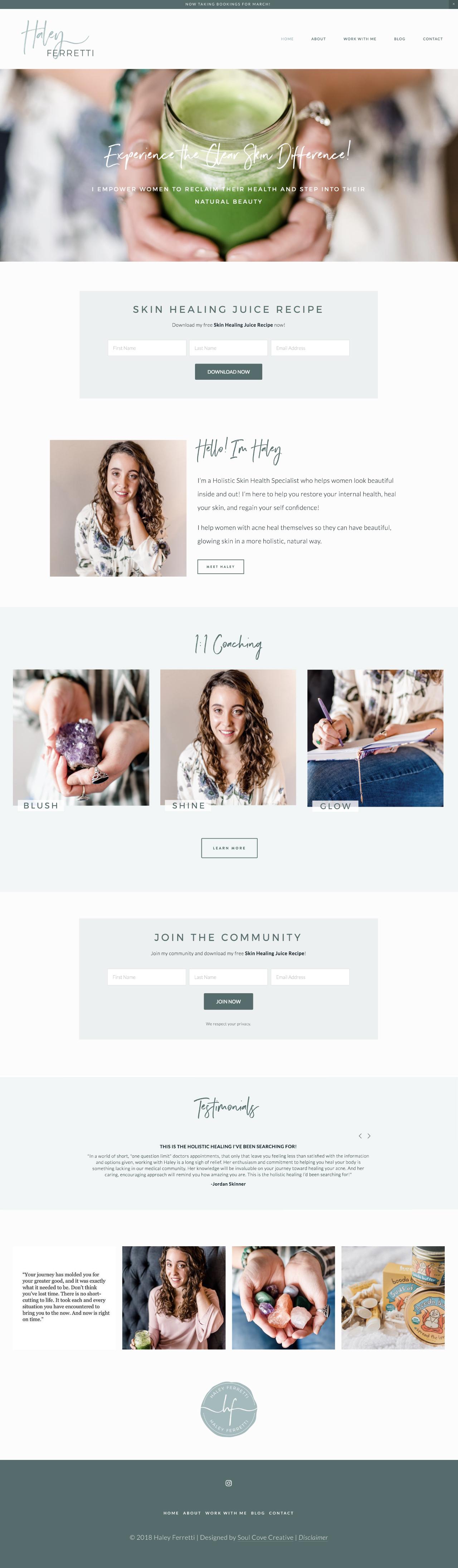 Haley's Website