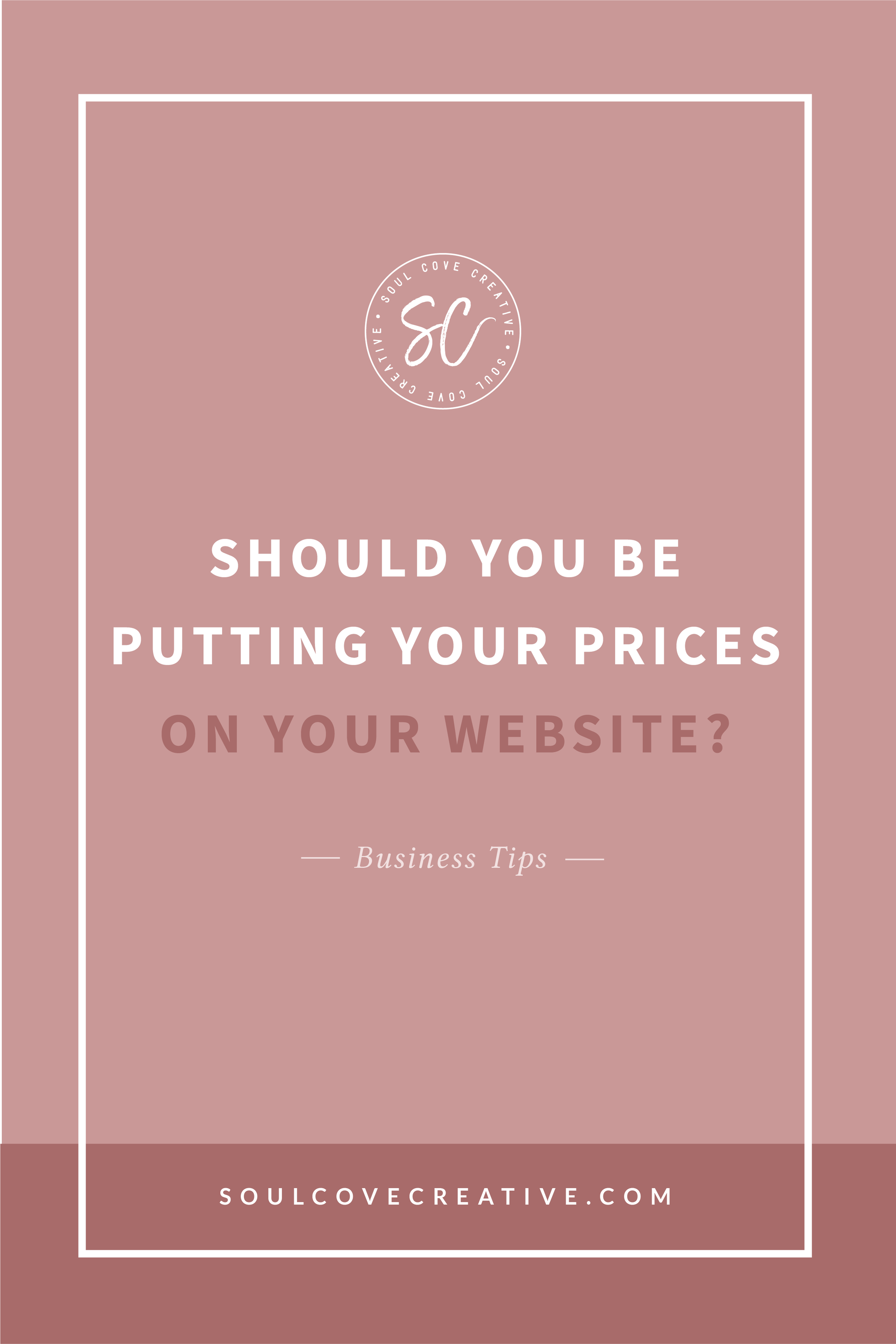 Should you be putting your prices on your website