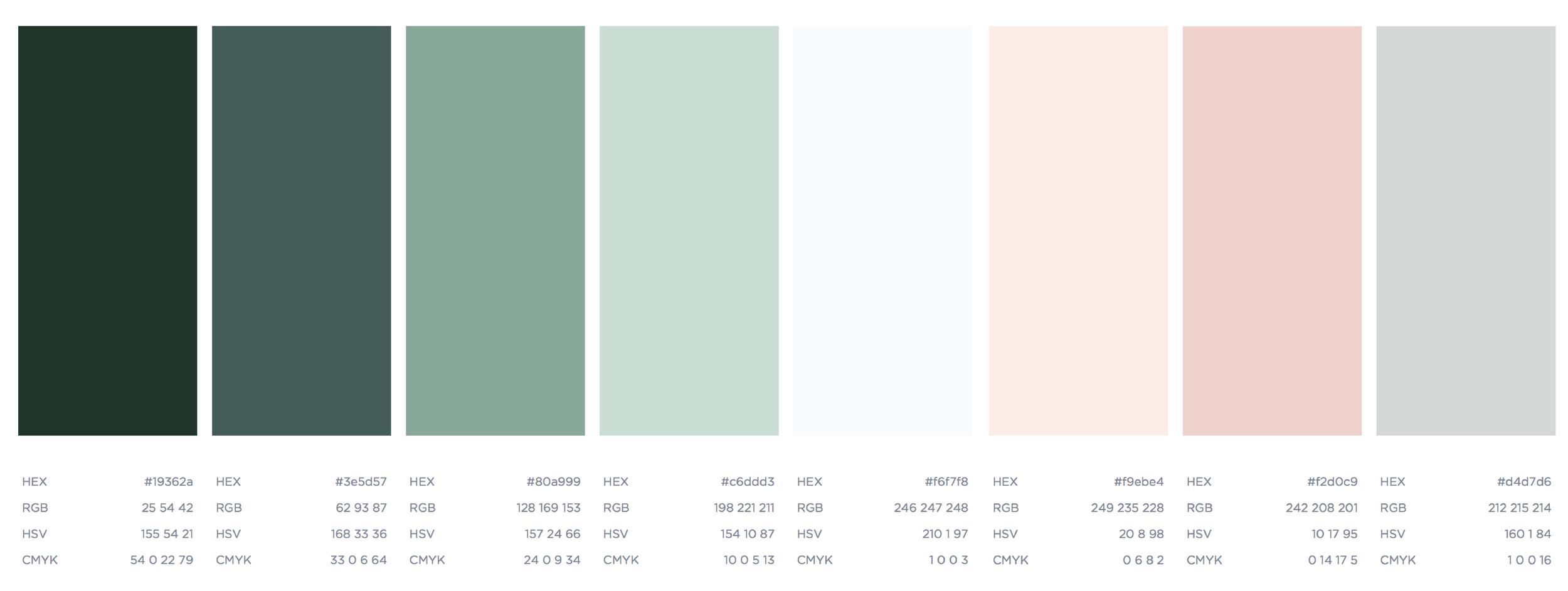 Color Palette Mallory