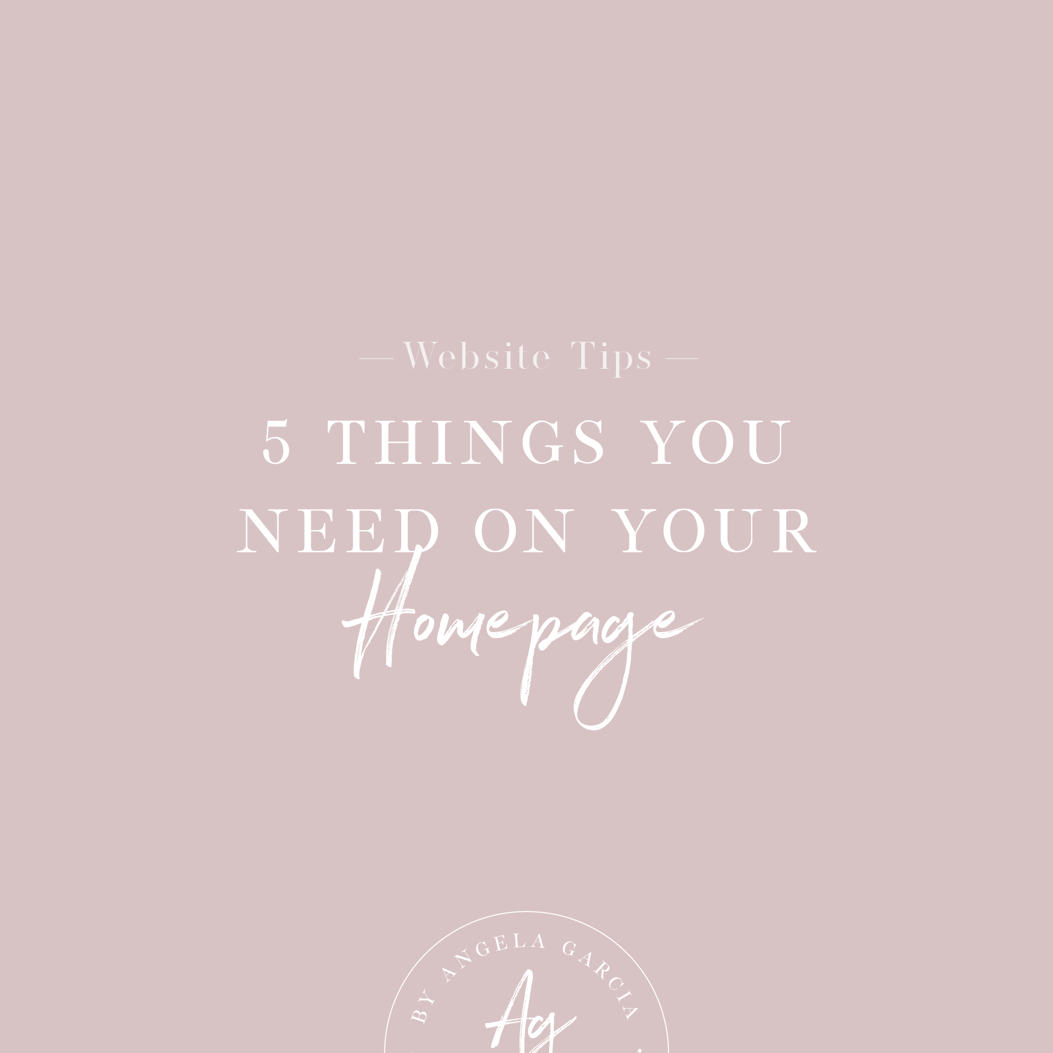 5 Things You Need on your Homepage