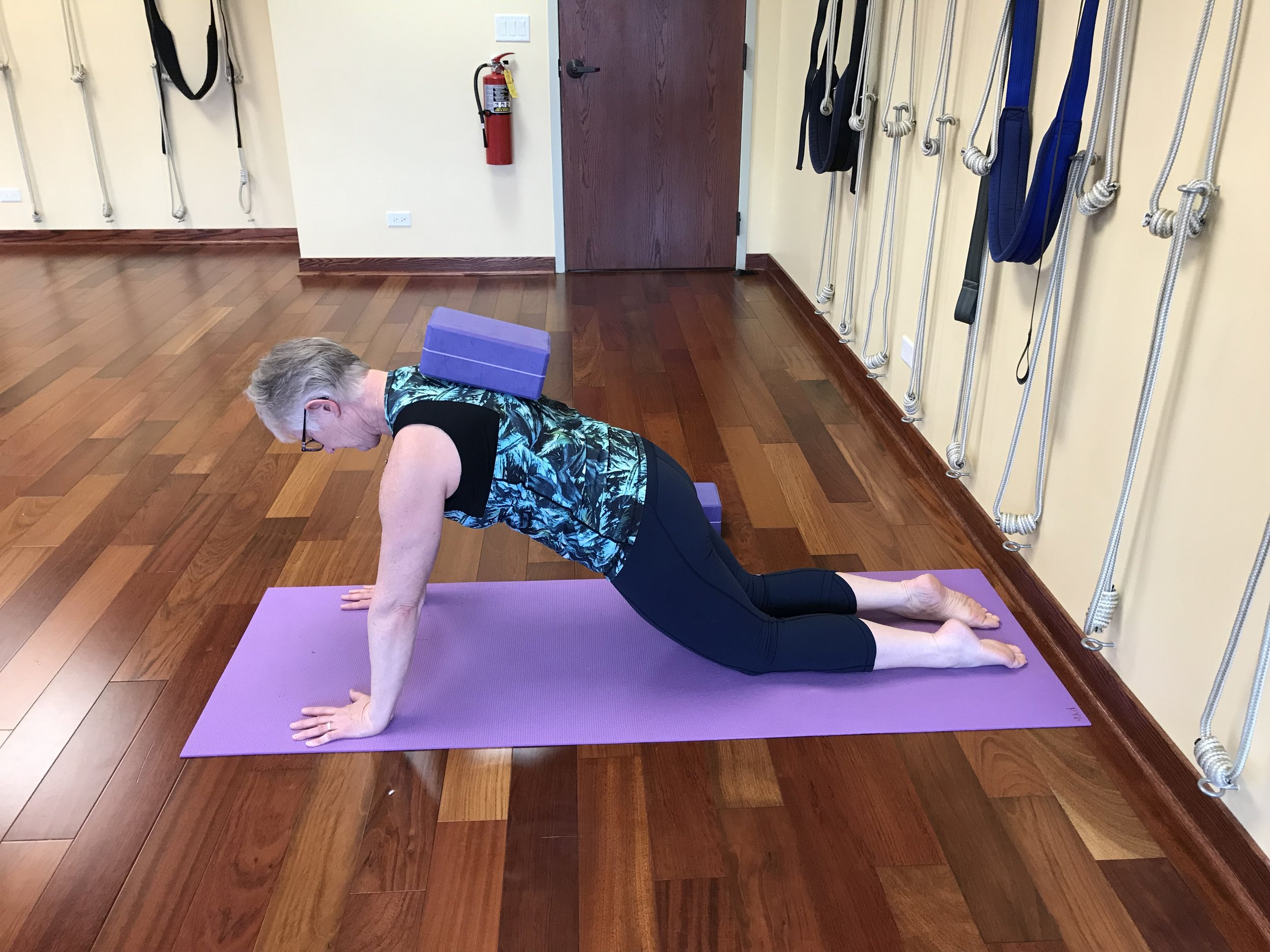 Progressive Plank - a great way to build stability in the shoulders and the core.
