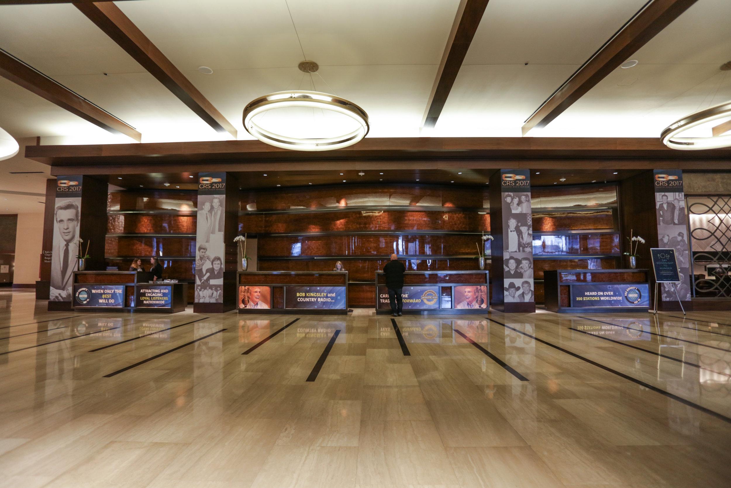 Lobby Column + Desk Clings