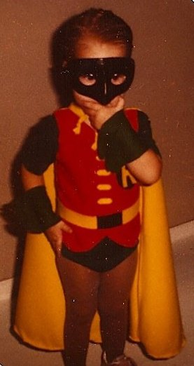 Being super is just part of who Robin is. Age 2.