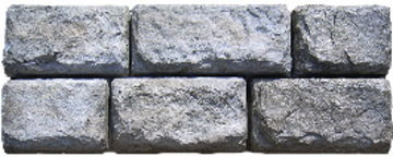 Cobblestone Face Texture - Perfect for projects that need a smaller-scale look since each one-ton block features the appearance of six smaller blocks