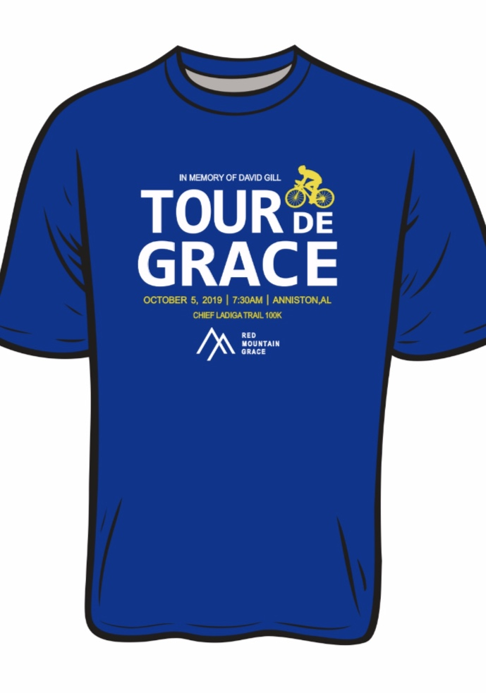 Give the shirt off your back. - Every Tour de Grace t-shirt sold will help a family receive a safe and comfortable place to stay at a Red Mountain Grace apartment!