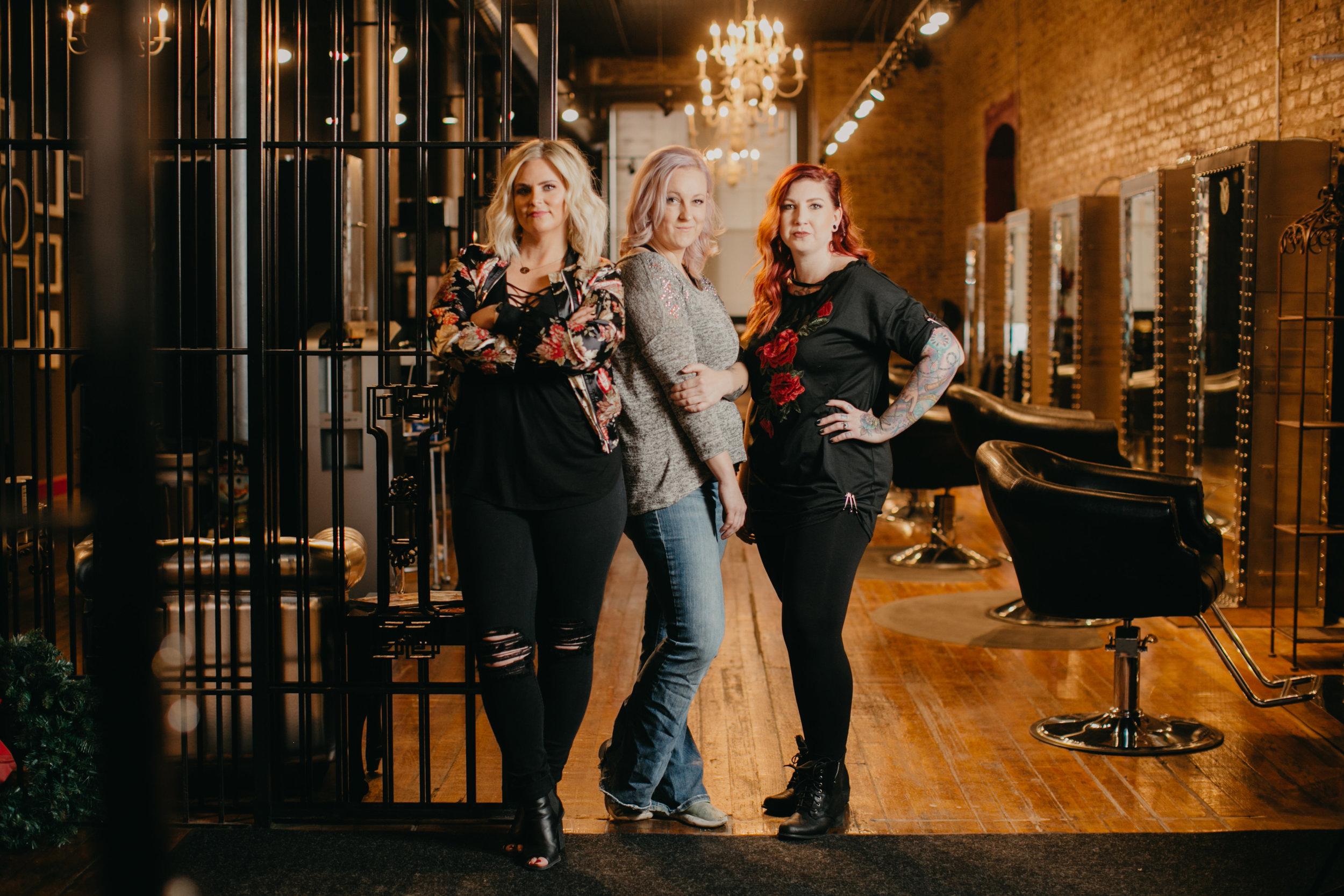 The Talented Team - Kali Rahder, Salon DirectorKelli Lambert, Front Desk ManagerSarah Root, Salon Director