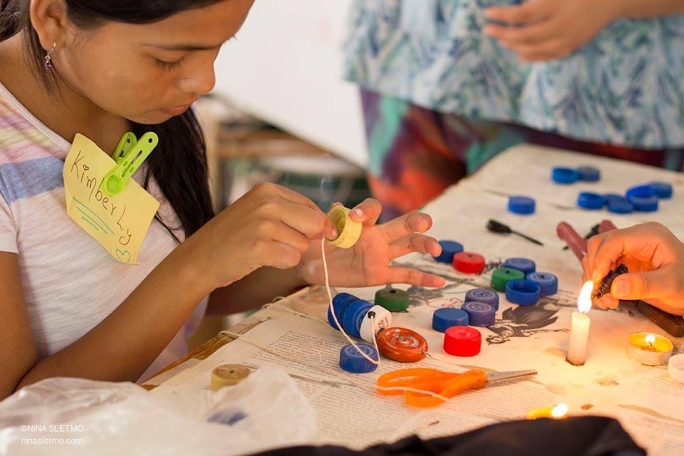 Galapagos Conservation Trust  - Bottle cap doll workshops - Nina Sletmo.jpg