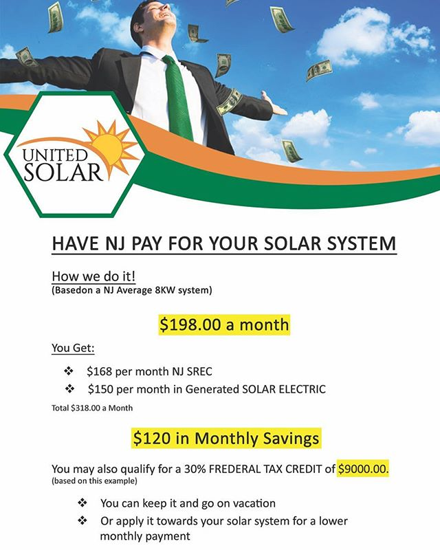 Going solar has never been easier in New Jersey. Going solar pays for itself in New Jersey. Here  is a example of how it works . Call us today 973-531-7066 or visit us online at  UnitedSolarCo.com . . . . . #unitedsolar #solar #solarhome #gosolar #green #gogreen #efficienthome #savemoney #homeowners #nj #newjersey
