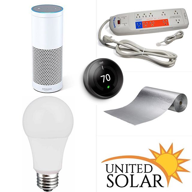 Smart home efficiency package is included with every solar installation. With just adding a few products to your home you can save 20% on your energy bill. Adding solar to that will make ur home 50% + more energy efficient! #unitedsolar #solarenergy #solar #energy #solarpower #solarpanels #panels #renewableenergy #power #gogreen #project