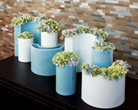 Macaroni Vase Blue Small  |  Qty: 31