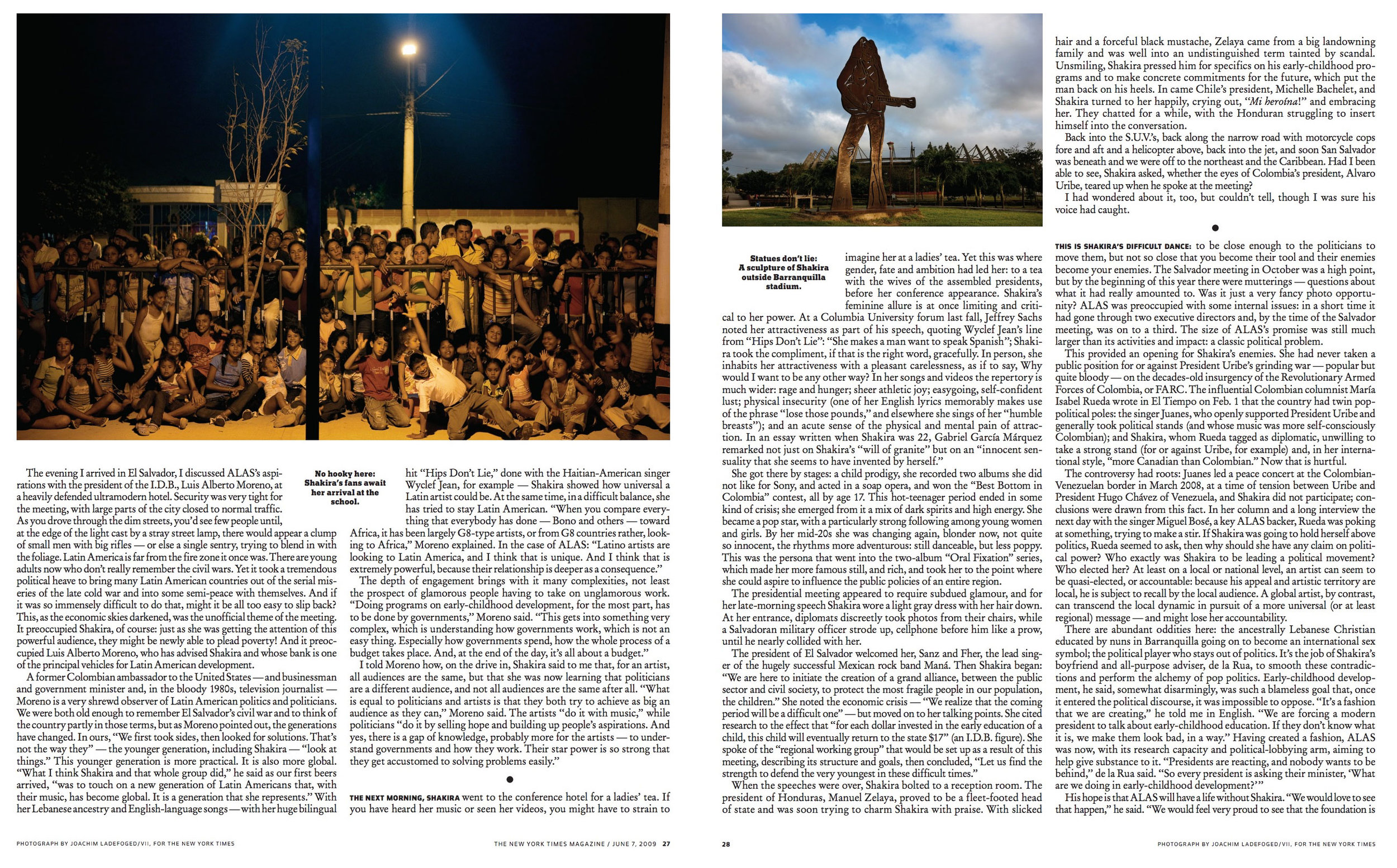 Client: The New York Times Magazine Role: Producer, assigning photo editor Photographer: Joachim Ladefoged/VII