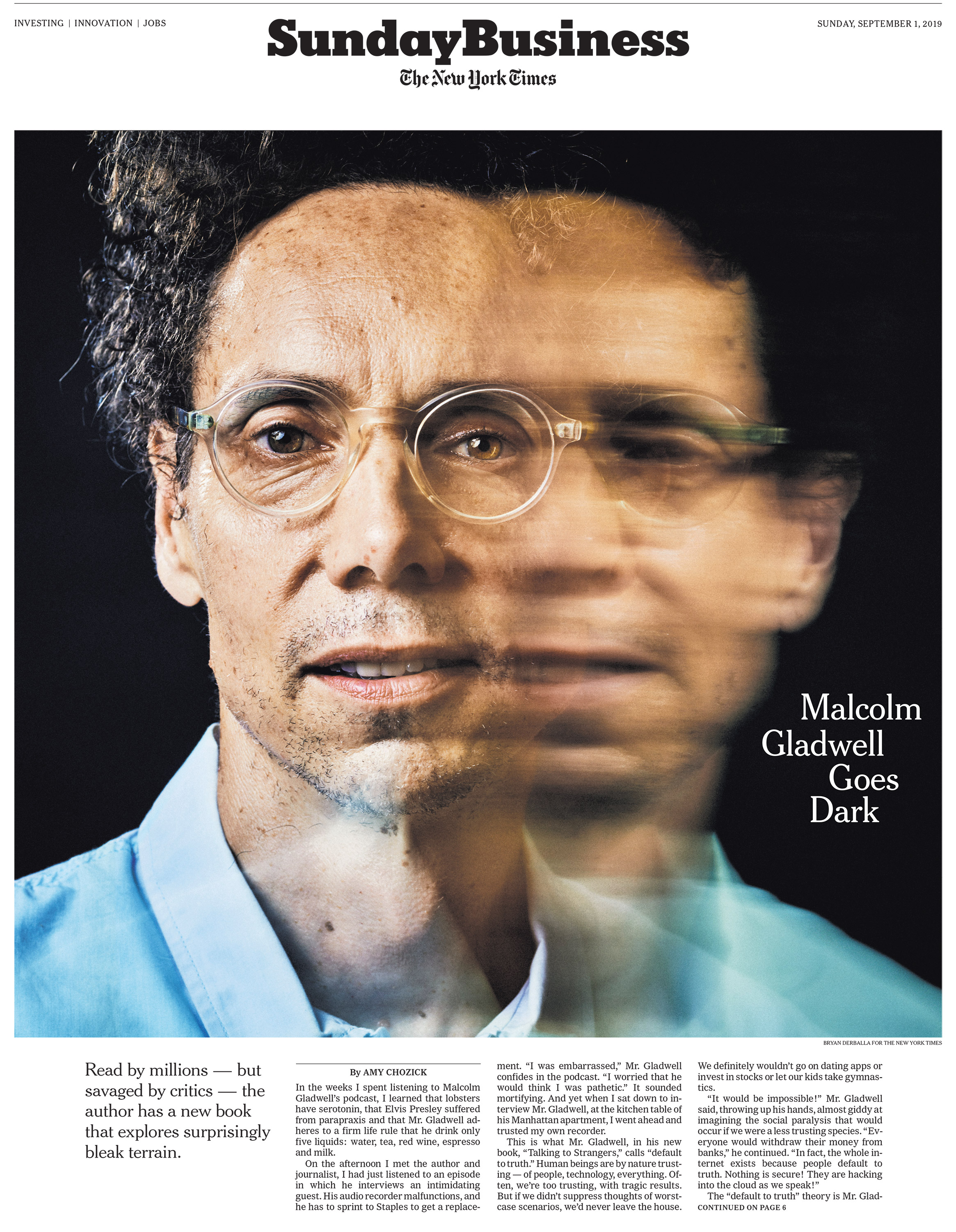 Client: The New York Times, Sunday Business Role: Creative director, producer Photographer: Bryan Derballa