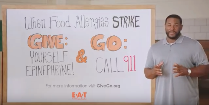 End Allergies Together launches global Public Service Announcement - What to do when a severe food allergy reaction (anaphylaxis) strikes with actors wearing Red Sneakers for Oakley to help spread awareness about the dangers of food allergies.