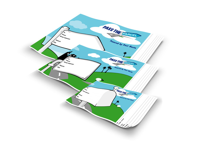 Above: Pass The Parcel Satchels  Below: Online Animated Banners