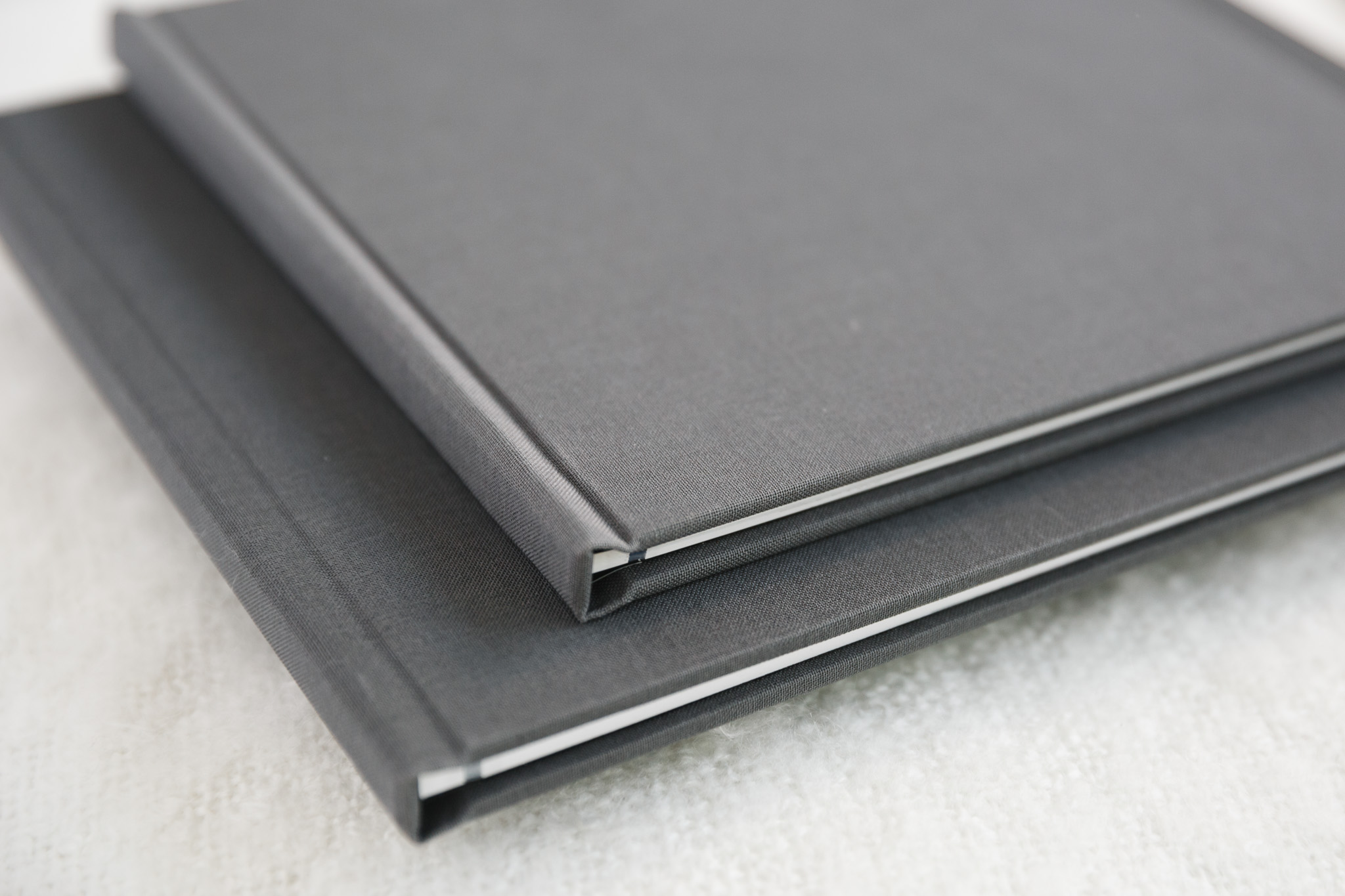 Copy of signature books with grey fabric cover