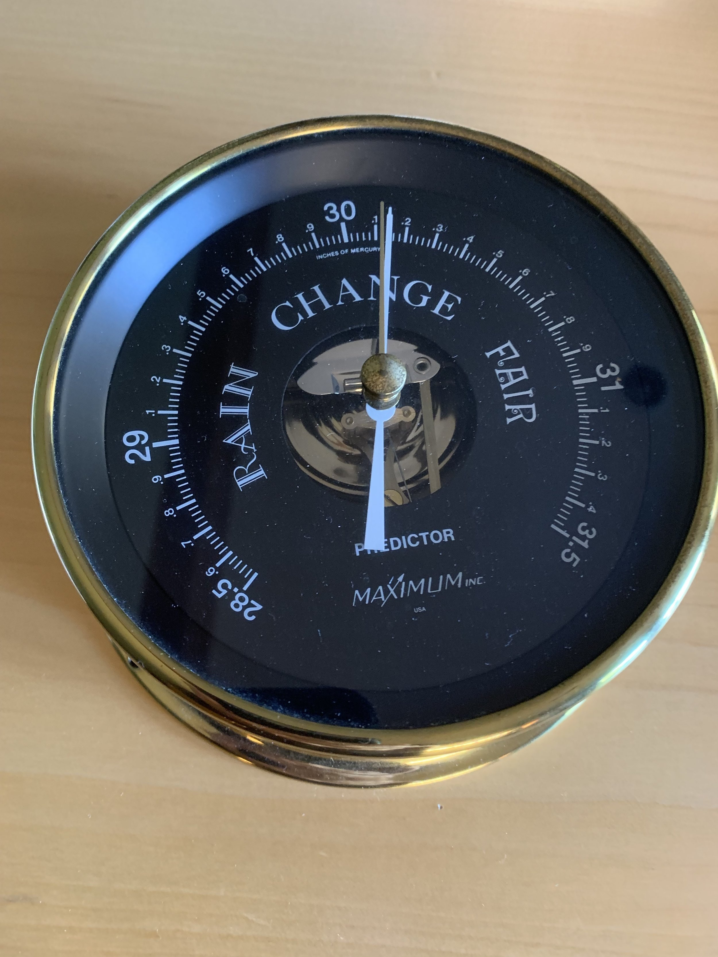 A typical Aneroid barometer…