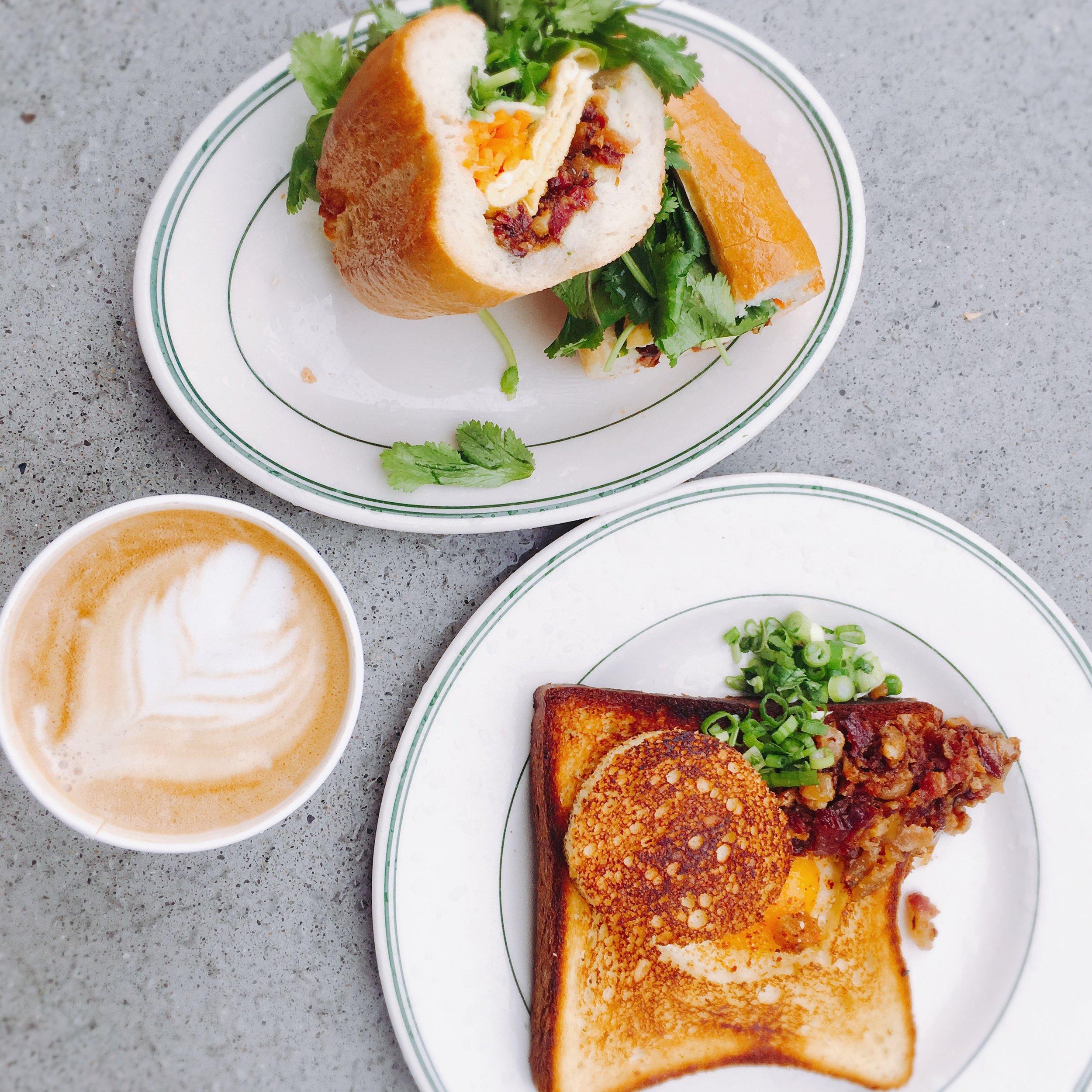 Breakfast + St. Clare latte.