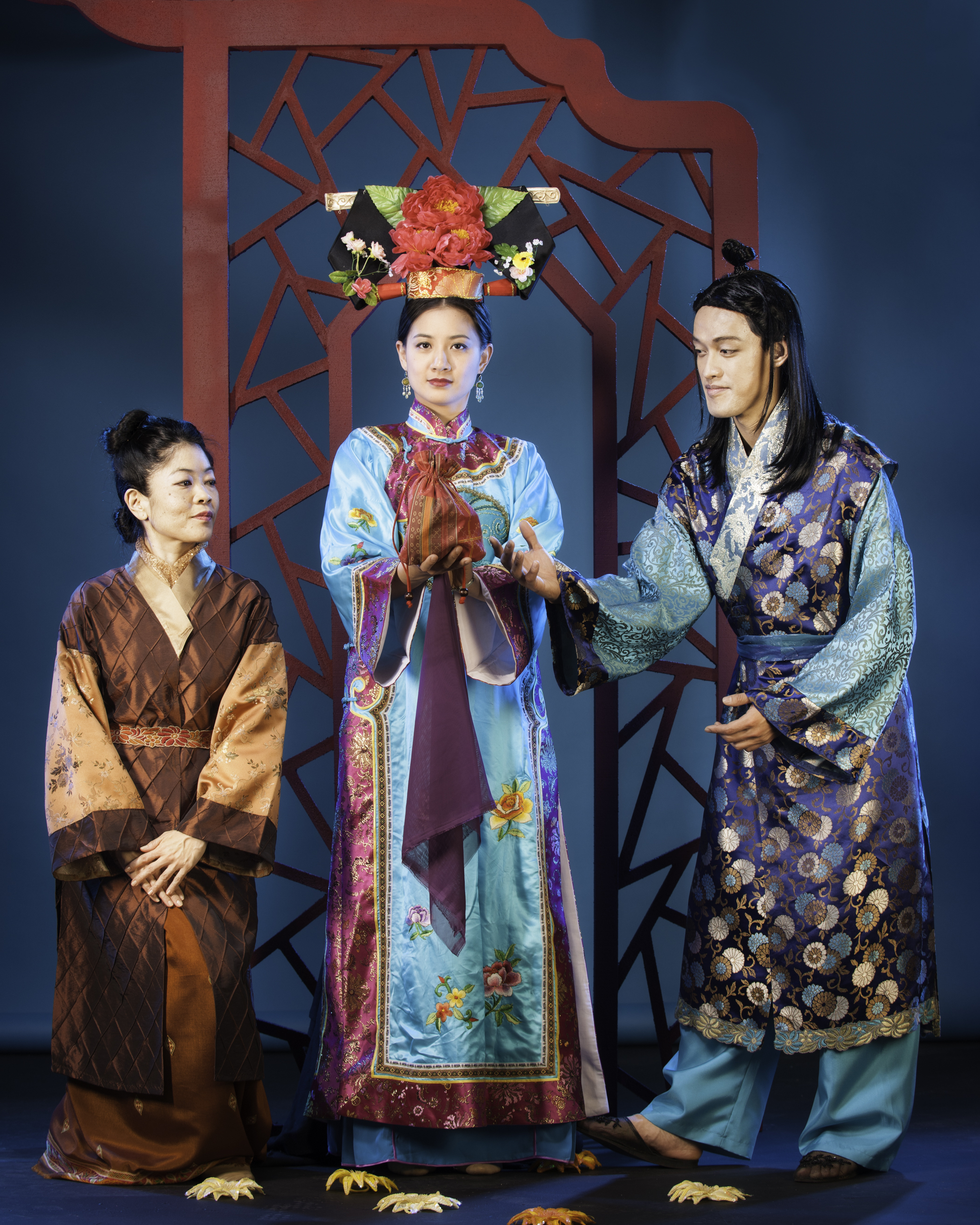 Allison Hiroto, Mandarin Wu and Vichet Chum in Pan Asian Rep's A DREAM OF RED PAVILIONS photo by Michael Blase PRINT.jpg