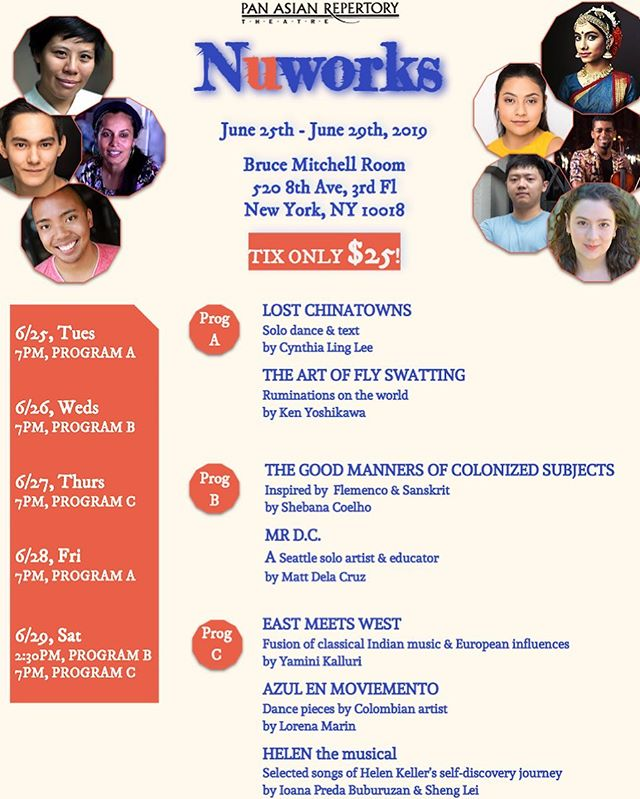 NUWORKS 2019 is coming! Let's enjoy the early summer with the new works from emerging artists, rainbow vibes, and of course, wine! 🌈🥂🥂 . NUWORKS 2019 presents new work from emerging artists who explore different genres and techniques. A diversity of voices, topics, and types of art will be presented by the young blood! . For tix, please visit link in bio! . Cheers, and see you guys soon! . #panasianrep #emergingartist #newyorkcity #pridemonth #pride🌈 #diversity #performingarts #musical #dance #indian #european