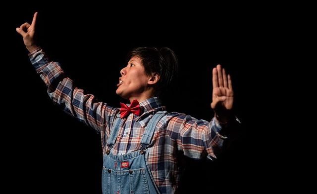 """Let's take a sneak peek of LOST CHINATOWNS by @cynlinglee , it's under Program A of NUWORKS 2019! 👀🌈 Lost Chinatowns is a solo dance-theater work that explores the destruction, lost vibrancy, and historical erasure of Santa Cruz's Chinatowns from 1860-1955. Santa Cruz, now known for being the ultra-liberal """"leftmost"""" city of the US, was once a center for virulently xenophobic anti-Chinese racism in California. The piece aims to make connections between the historical othering of Asian bodies and current racialized xenophobia in the era of Trump.  Cynthia Ling Lee is a Taiwanese American choreographer who instigates queer, postcolonial, and feminist-of-color interventions in the field of Asian diasporic performance. Her interdisciplinary choreography has been presented at venues such as Dance Theater Workshop (New York), East West Players (Los Angeles), SZENE Salzburg (Salzburg), Taman Ismail Marzuki (Jakarta), and Chandra-Mandapa: Spaces (Chennai). Cynthia was the recipient of a Thomas J. Watson Fellowship, an Asia-Pacific Performing Arts Exchange Fellowship, and a Hellman Fellowship. Cynthia is an assistant professor of dance in the Department of Theater Arts at UC Santa Cruz and a member of the Post NatyamCollective.  Photo credit to Andrei Andreev  For more info, please visit panasianrep.org For tix, please visit link in bio!  #panasianrep #emergingartist #nyc #pride #newworks #talent #manhattan #happypridemonth #diversity #performingarts #musical #dance #play #playwright #directors"""