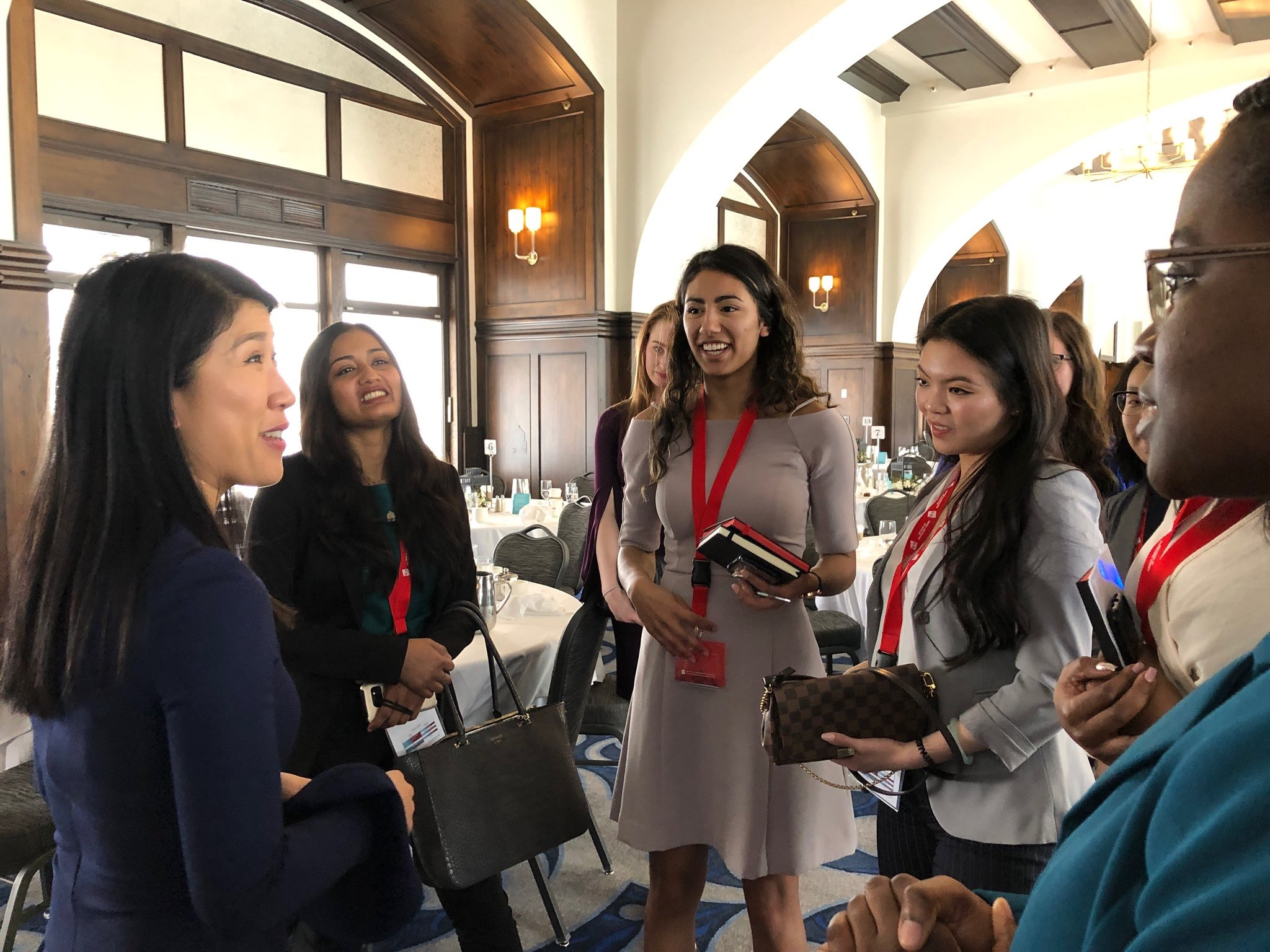 Meeting students after my keynote at the Network of Empowered Women conference