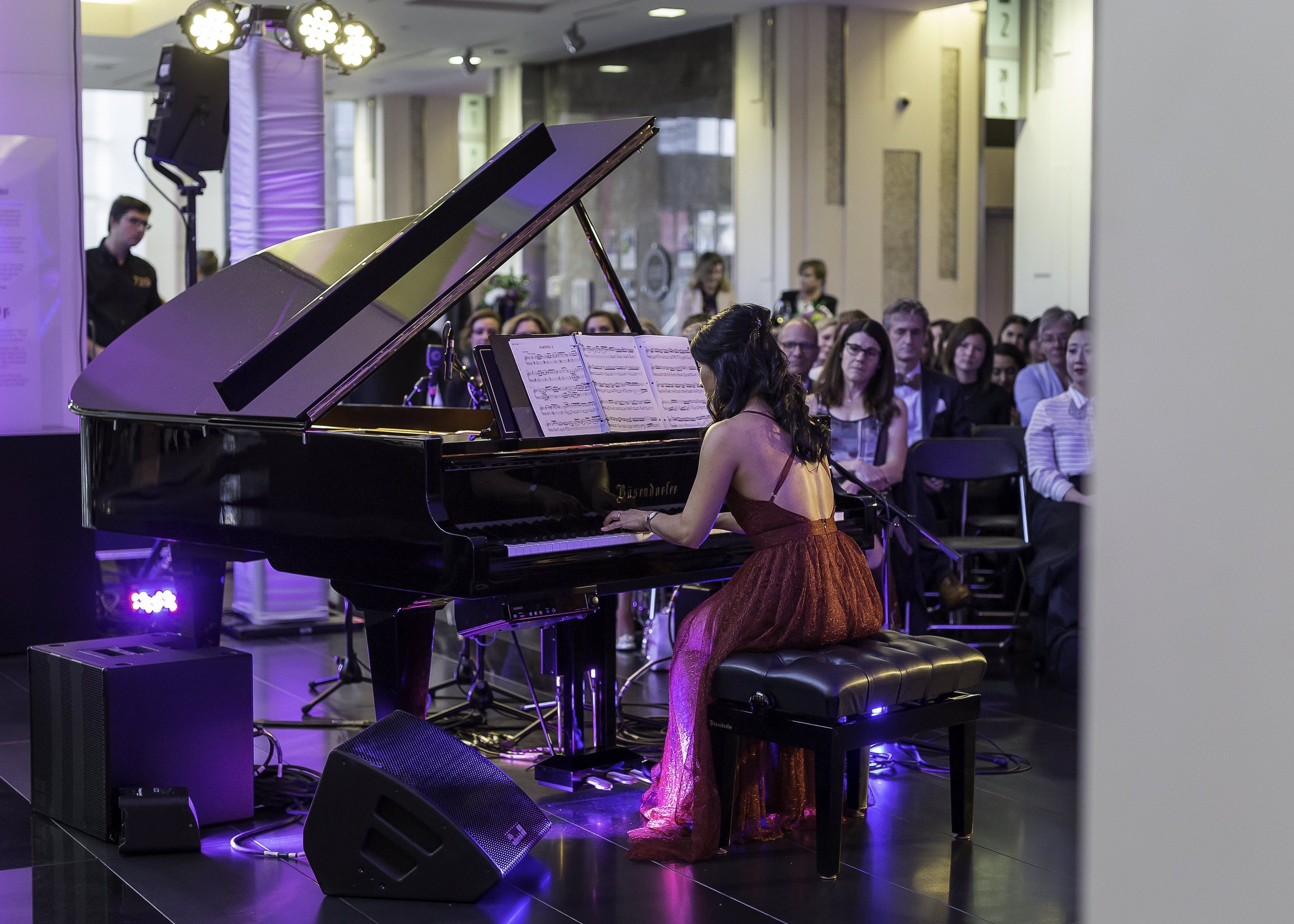 Playing the Oscar Peterson Bosendorfer grand piano, at EPCOR Tower