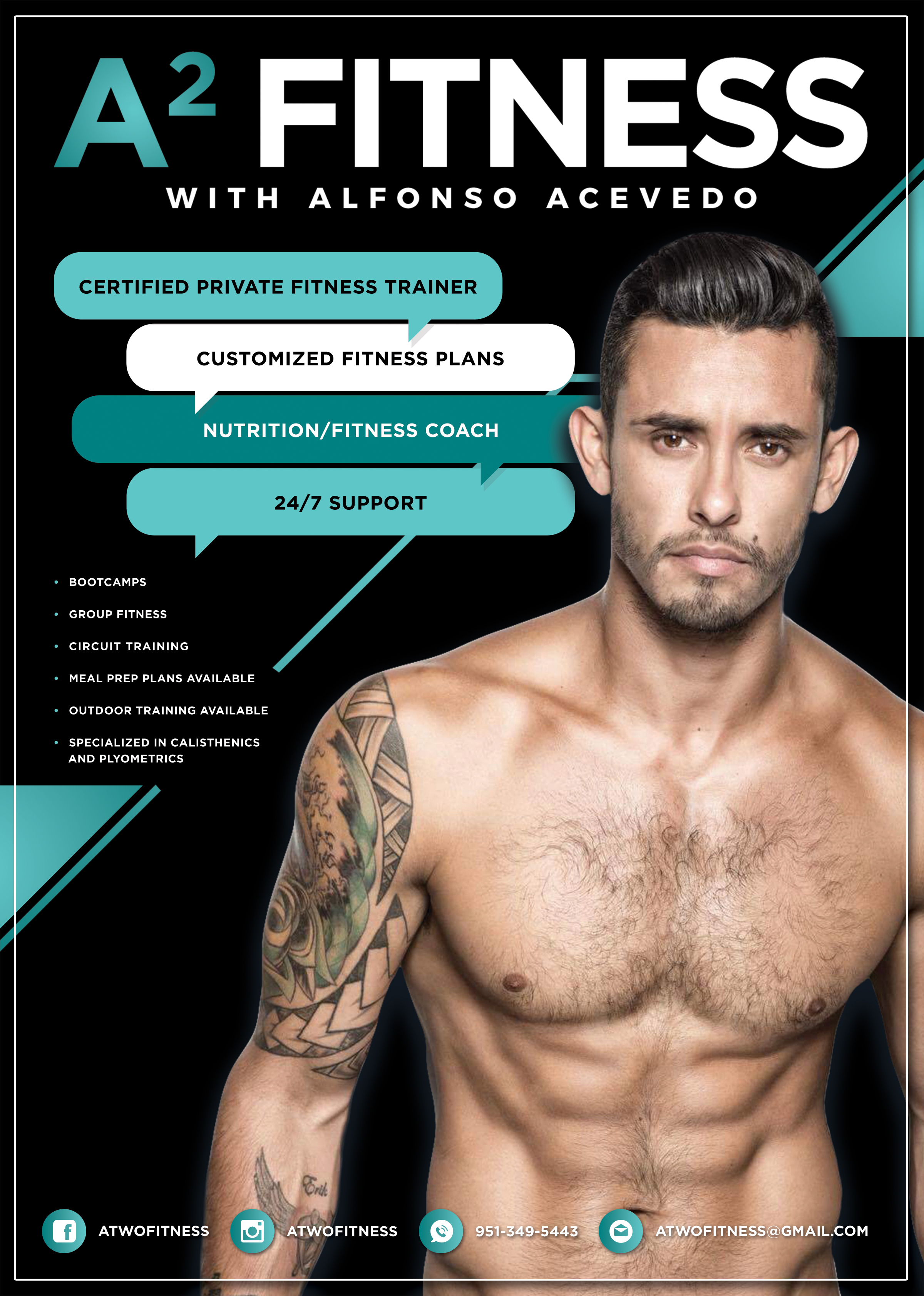Design for my good friend Alfonso, who's launching his fitness training empire. Check him out: @atwofitness