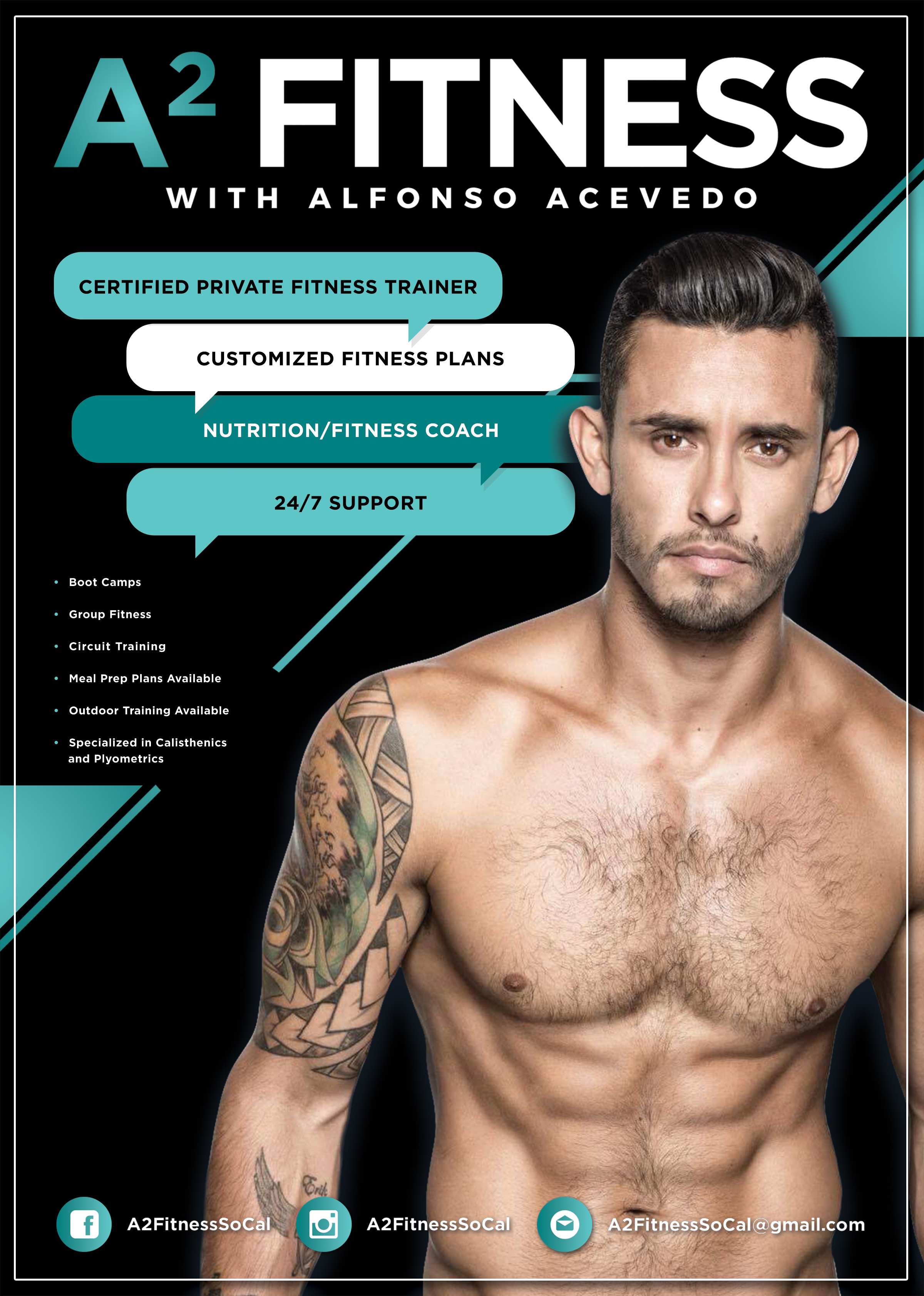 Design for my good friend, Alfonso who's launching his fitness training empire. Check him out: @A2FitnessSoCal
