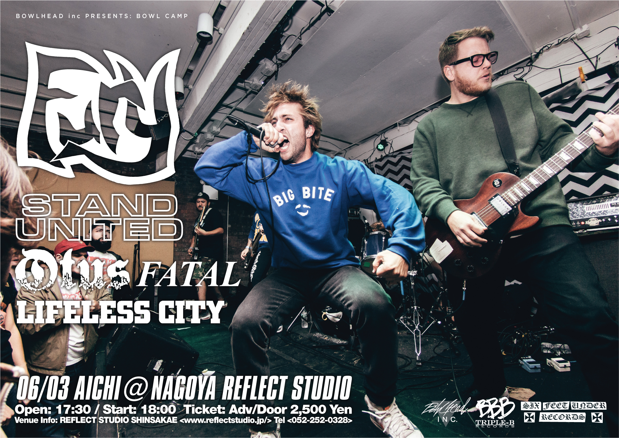 - Live photograph used for FURY's Japan tour flyer.