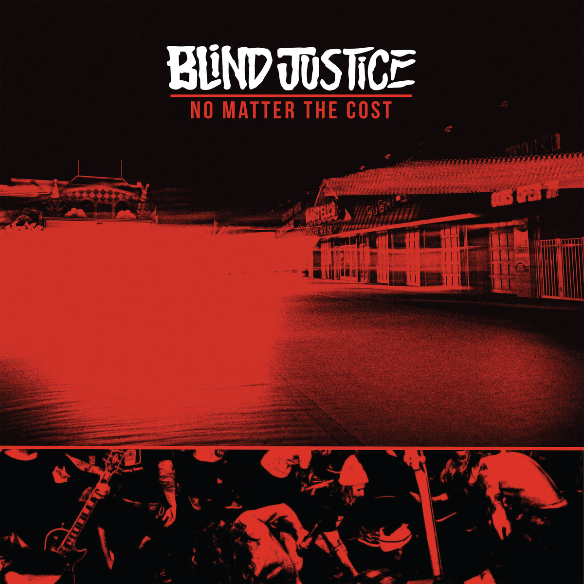 - Personal and live photograph used for BLIND JUSTICE's second studio LP 'No Matter The Cost'.
