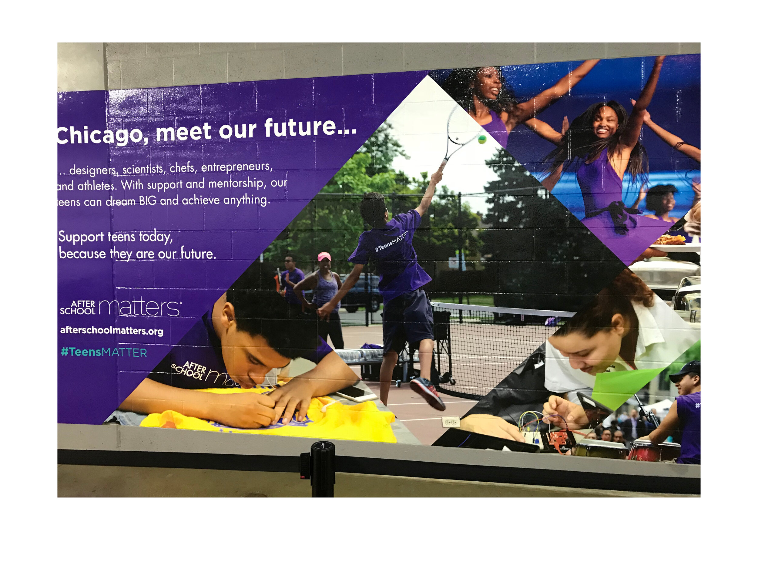 """Chicago Meet Our Future"" Advertisement, White Sox Stadium, - After School Matters"