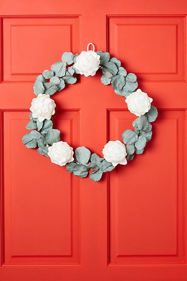 Mulberry Paper Eucalyptus Wreath