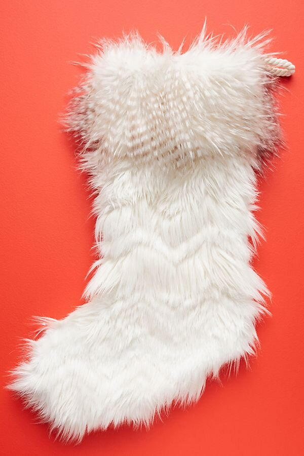Noth Pole Faux Fur Stocking