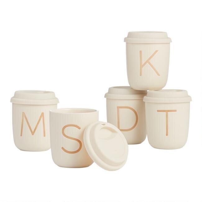 Sand Monogrammed Ceramic Mug
