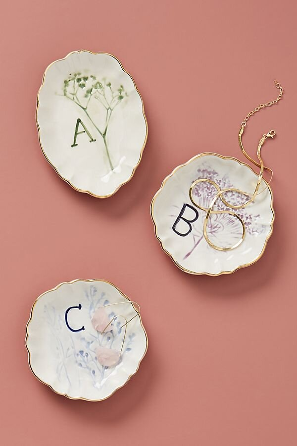 Botanical Monogram Trinket Dish