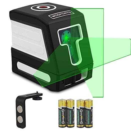 Green Laser Level 100Ft Self-Leveling Cross-Line laser Horizontal and Vertical Lines