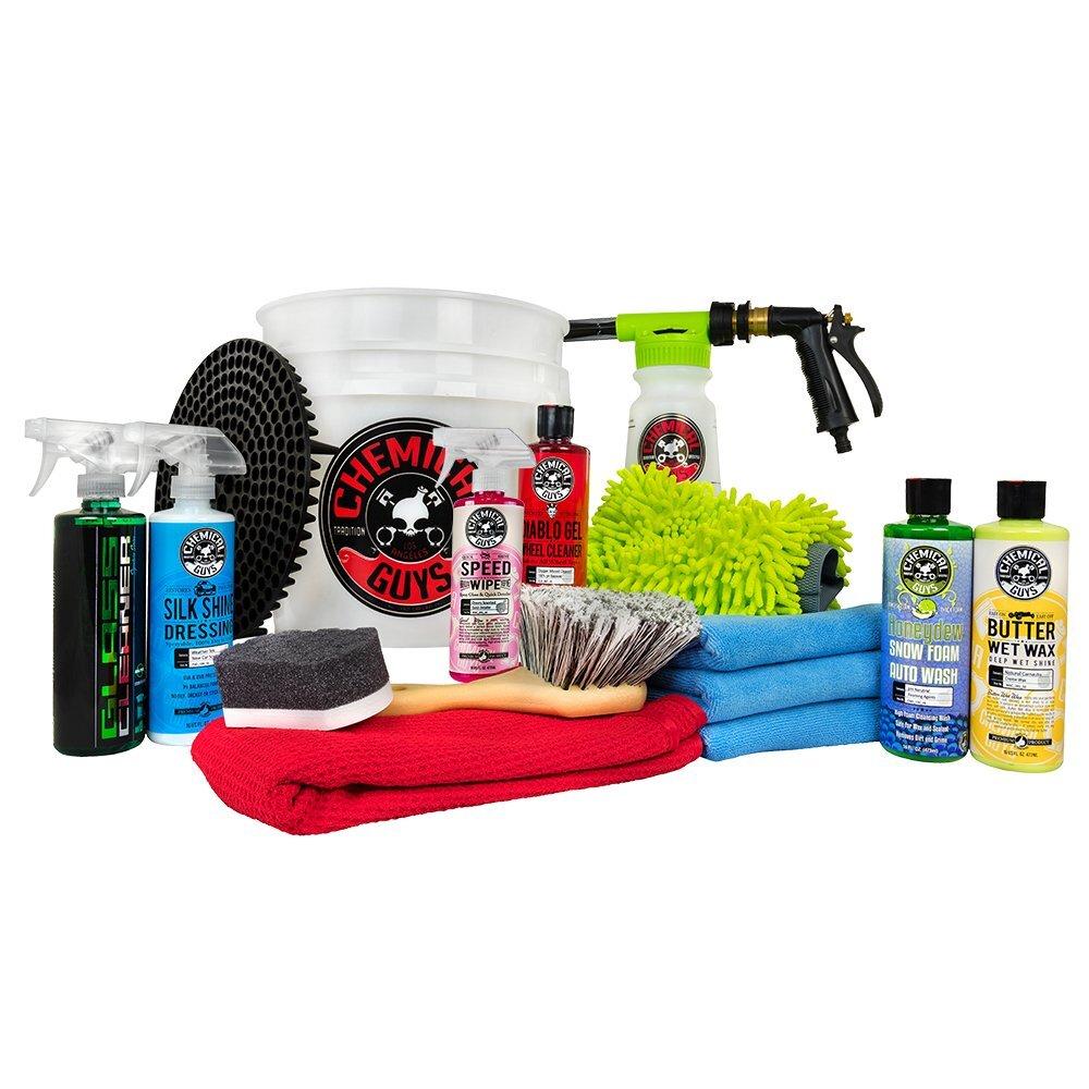 Chemical Guys HOL148 16-Piece Arsenal Builder Wash Kit with TORQ Blaster Foam Gun, Bucket