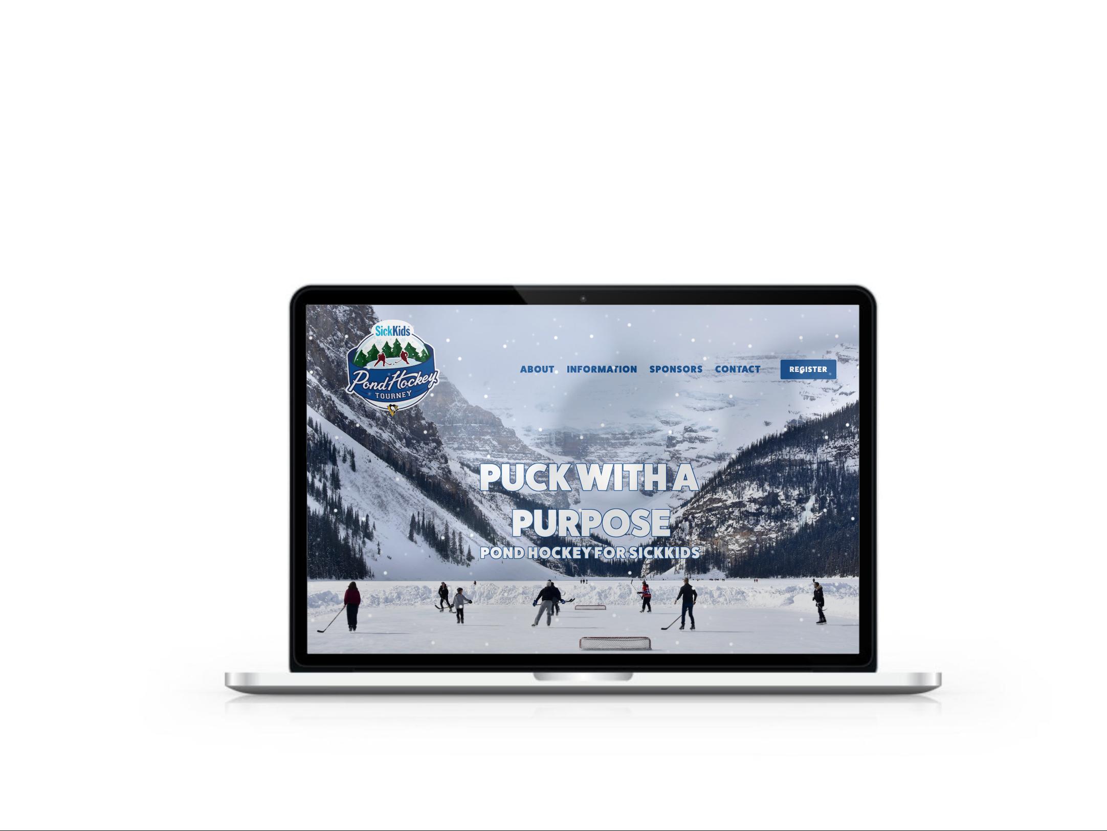 Park Creative Agency - SickKids Hospital Foundation - Pond Hockey Tourney - Website Build.png