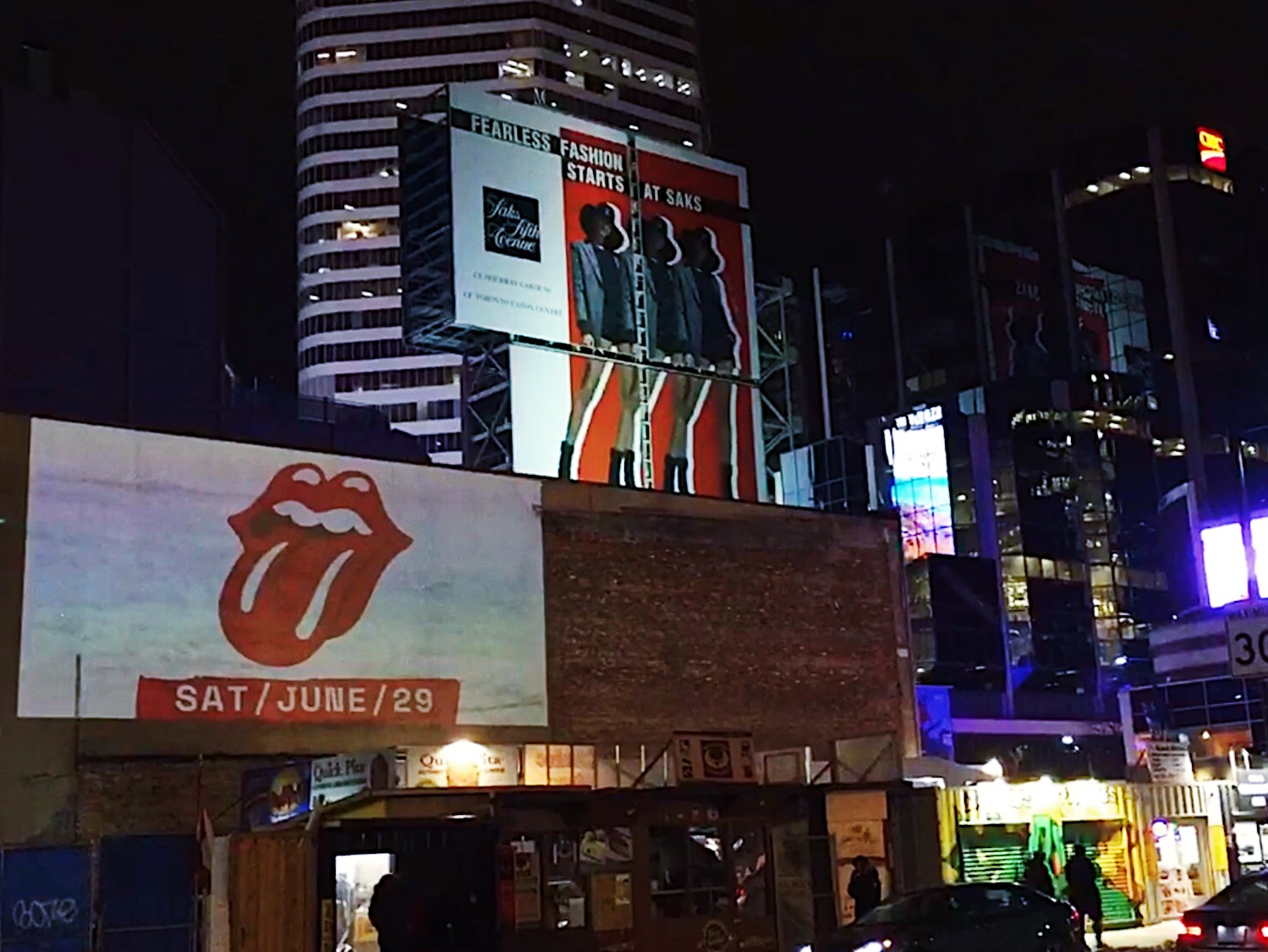 Park Cretive Agency - Projection Mapping - Rolling Stones Toronto - Yonge and Dundas.JPG