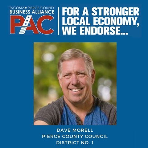 Attention #piercecounty voters! We endorse Dave Morell for Pierce County Council, District No. 1. Dave has founded and operated multiple businesses over 35 years. He's a former State Representative for the 25th Legislative District and he has held a variety of positions on committees and boards. Economic growth and local job creation rank among his top priorities. See link in bio for our endorsements.