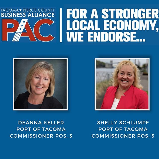 We're pleased to announce today that we endorse a slate of business-friendly candidates for two open seats on the Port of Tacoma Commission and four on the Tacoma City Council. For Port of Tacoma Commissioner, we endorse Deanna Keller (Pos. 3) and Shelly Schlumpf (Pos. 5). For Tacoma City Council At-Large Pos. 7, we endorse incumbent Conor McCarthy. For Tacoma City Council Dist. 3, we endorse incumbent Keith Blocker. In the race for Tacoma City Council Dist. 1, we are making a dual endorsement, voicing support for both John Hines and Nathe Lawver. In the race for Tacoma City Council At-Large Pos. 8, we are also making a dual endorsement, voicing support for both John O'Loughlin and Kristina Walker. Visit the link in our bio for a list of endorsed candidates, or to sign up for our newsletters.  #business #tacoma #piercecounty #waelex #taccouncil #portoftacoma #vote