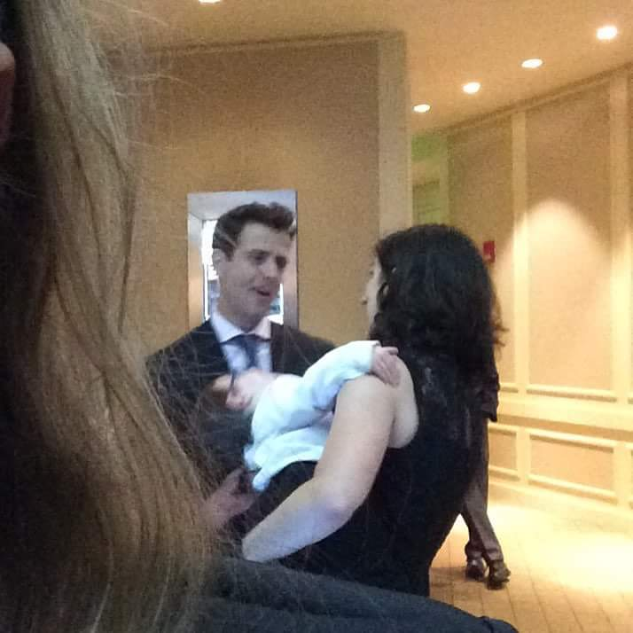 Jerusha, her son, and Mr. Joey McIntyre at the Massachusetts Eye and Ear (MEEI) Gala in Boston